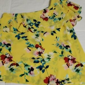 Fun Rose and Olive Top size Lg